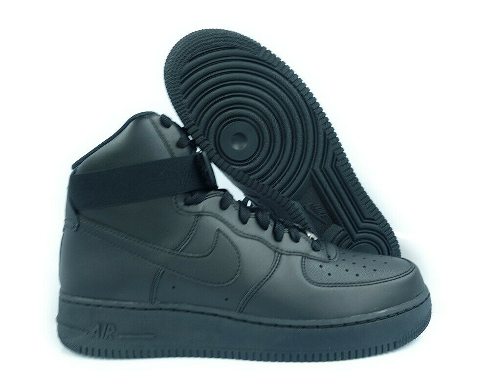 315121-032 Nike Air Force 1 High '07 (Black   Black) Men Sneakers
