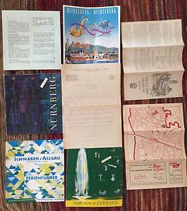 Details about 1950's 8 German Travel Booklet Lot & Maps Nurnberg Heidelberg  Germany VINTAGE