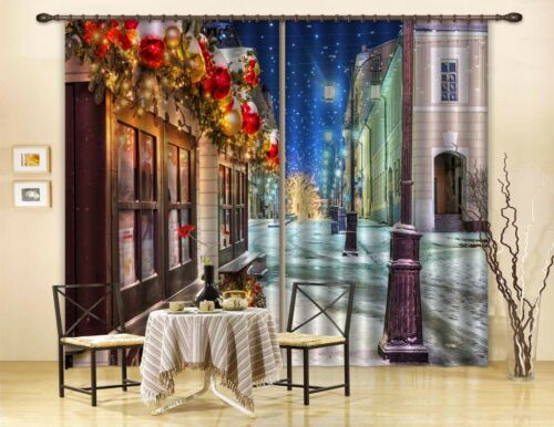 3D Street City Blockout Photo Curtain Printing Curtains Drapes Fabric Window AU