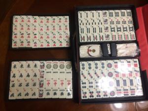 Vintage Mah Jong Completo con 144 Tiles, 4 Dice, 88 Sticks