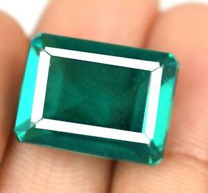 Earthmined Colombian Emerald Natural Gems 23.65 Ct Emerald Cut Certified Z5931