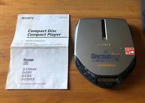 Sony D-E301 Discman Walkman ESP AVLS Mega Bass Portable CD Player (PARTS ONLY)