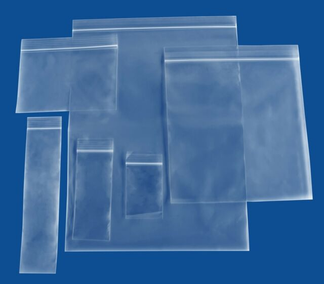 """NEW 3/"""" x 4/"""" Clear Reclosable Ziplock Poly Bags 4 mil 1000//Case"""