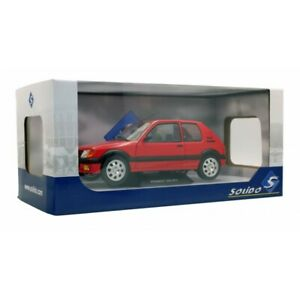 SOLIDO-1801702-PEUGEOT-205-GTi-1-9-diecast-model-road-car-red-body-1988-1-18th