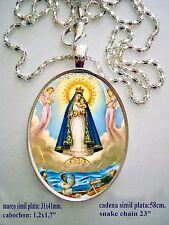 """Virgen De La Caridad del Cobre Pendant - Our Lady of Charity Cuba ,23"""" quality++"""