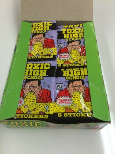 1991 Topps Toxic High School Stickers Factory box 48 packs x 3 boxes