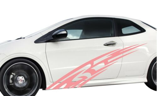3F30 Universal Car flames pinstripe Racing side graphics decals 68 x 12