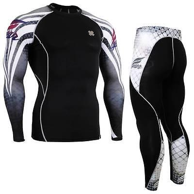 FIXGEAR CPD/P2L-B38 SET Compression Shirts & Pants Skin-tight MMA Training Gym