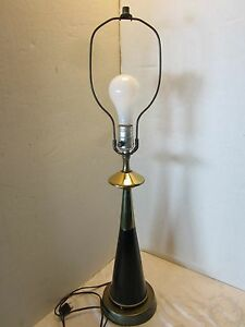 Atomic Space Age Needle Table Lamp Mcm Metal Vintage Steel