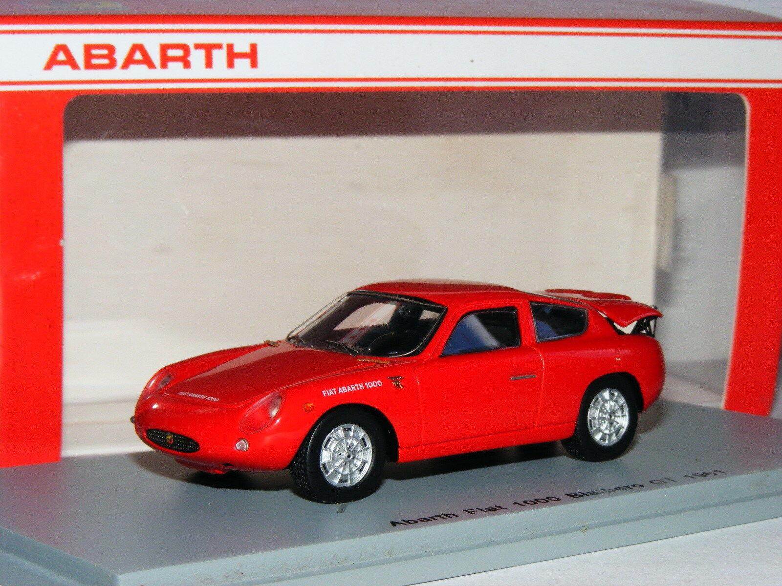 Spark S1301 1961 1961 1961 Abarth Fiat 1000 Bialbero GT Rojo 1 43 3e0a3f