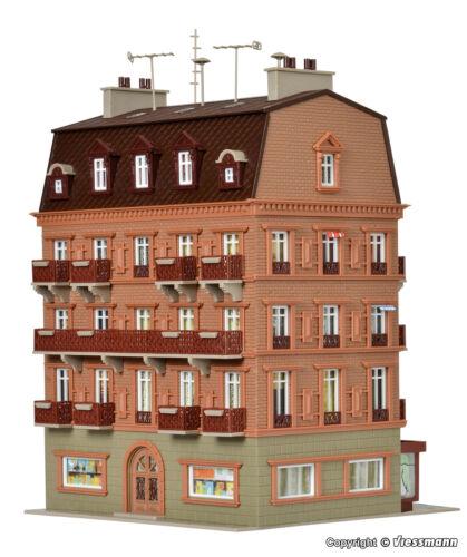 City-Hotel mit Inneneinrichtung und Beleuchtung   Bausatz Neu Vollmer H0 43782