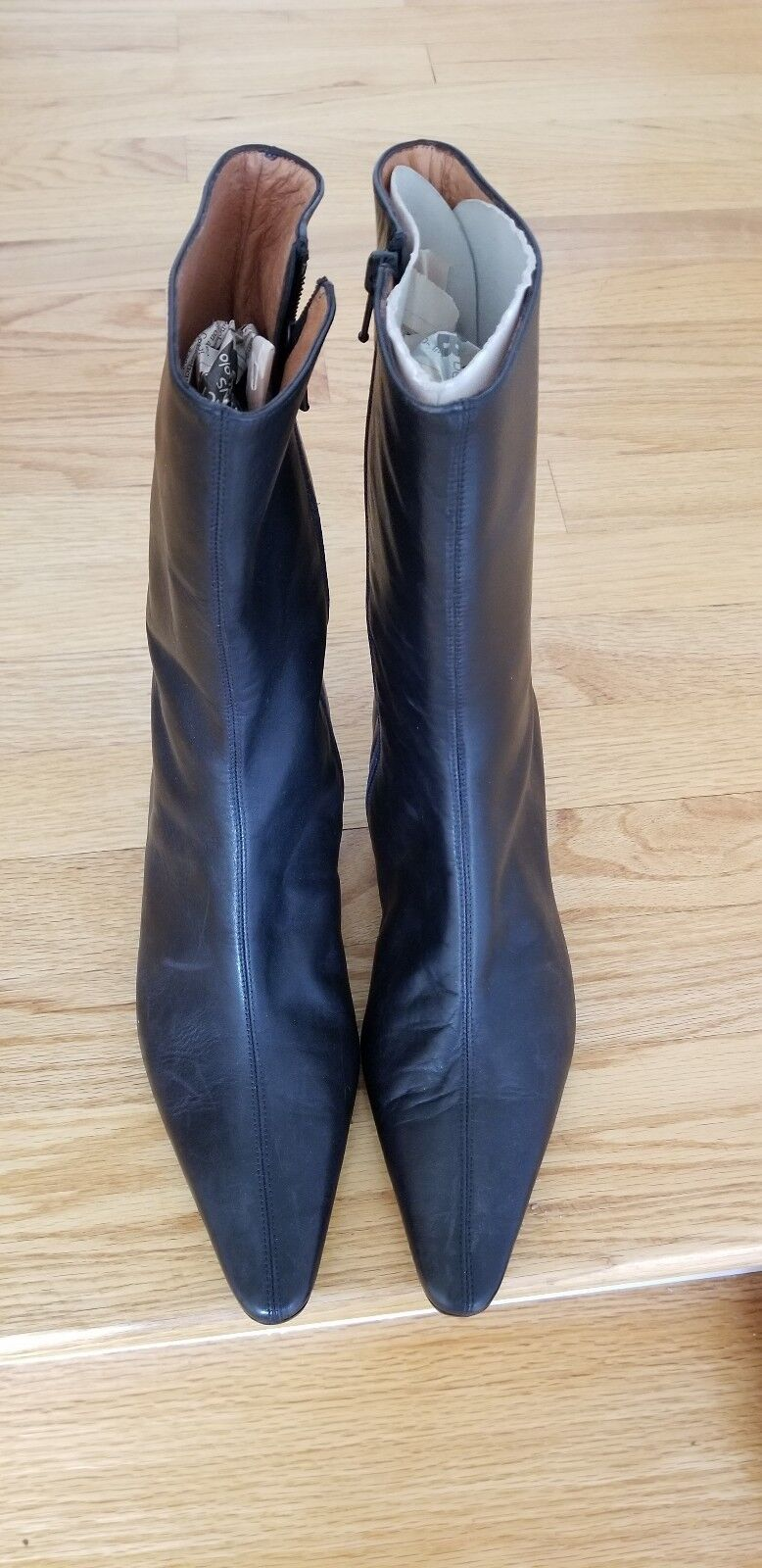 J CREW DELANEY LEATHER KITTEN  ankle boots size 8 new without box