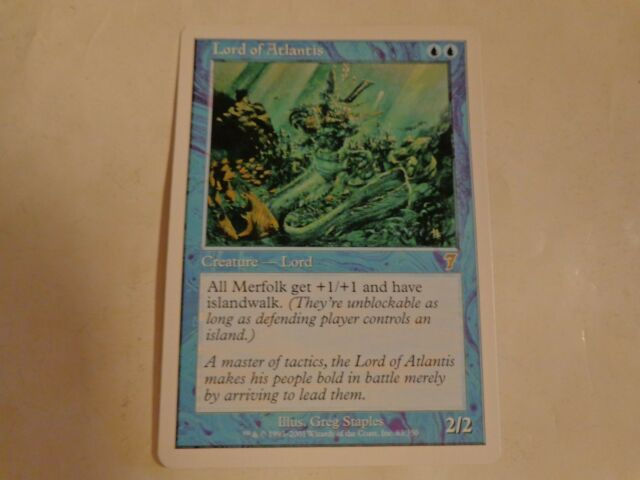Magic the Gathering Lord of Atlantis from 7th Edition