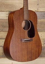 Martin D-15M Acoustic Guitar Satin Dark Mahogany Finish W/ Case