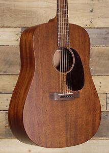 martin d 15m acoustic guitar satin dark mahogany finish w case ebay. Black Bedroom Furniture Sets. Home Design Ideas