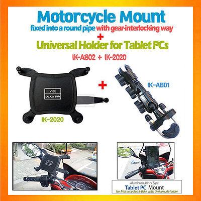 Tablet Mount Bike Motorcycle Mount+Universal Holder for iPad Mini Galaxy Tab7...