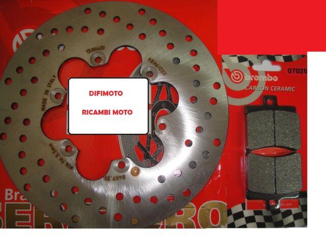 Set Disco Brembo + Pastillas Traseros Malaguti 125 F18 Proyecto 00>735
