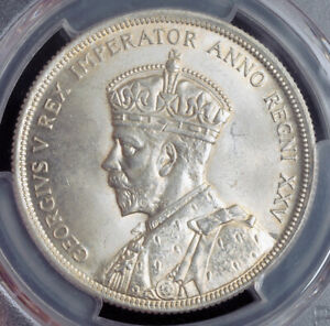 1935-Canada-George-V-Silver-034-Jubilee-Voyageur-034-Dollar-Coin-PCGS-MS-64