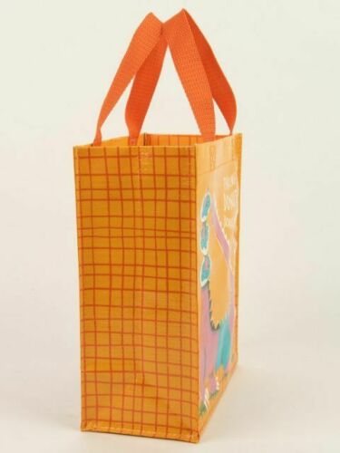 """Taking Donut Donations Blue-Q Handy Tote New Re-Usable 10/""""hx8.5/""""wx4.5/""""d Fashion"""