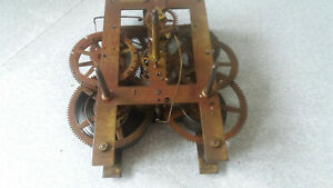 E-N-WELCH-ANTIQUE-WALL-CLOCK-MOVEMENT-6-1-2-X-7-INCH-RESTORATION-PROJECT