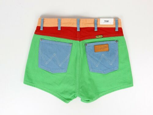 Peter Max Retro New Wrangler Shorts jeans Denim Green van Hete Shorts door tpEwtqOZ