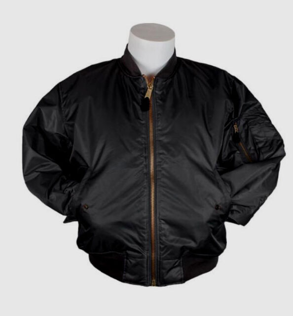 50b20f08469 Bomber Jacket BLACK Fox Outdoor Nylon Military Men s Flight MA-1 Sz SMALL  NEW
