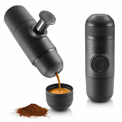 Manual Coffee Machine Espresso Mini Coffee Pot Coffeemaker Outdoor Travel Brown