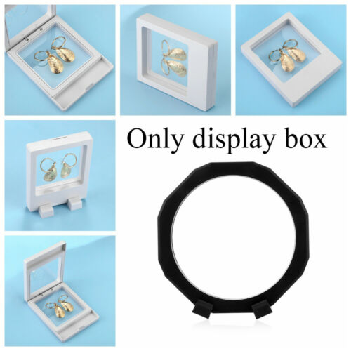 Gems Artefacts Rectangle Eight Corners Jewelry Display Case Floating Suspended