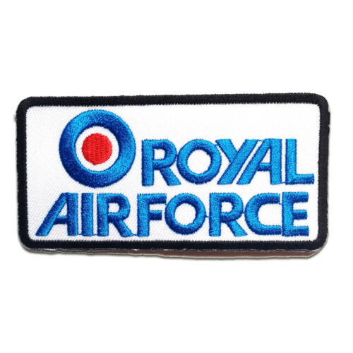 Iron on patches ROYAL AIRFORCE Army 9.3x4.7cm Application badges blue