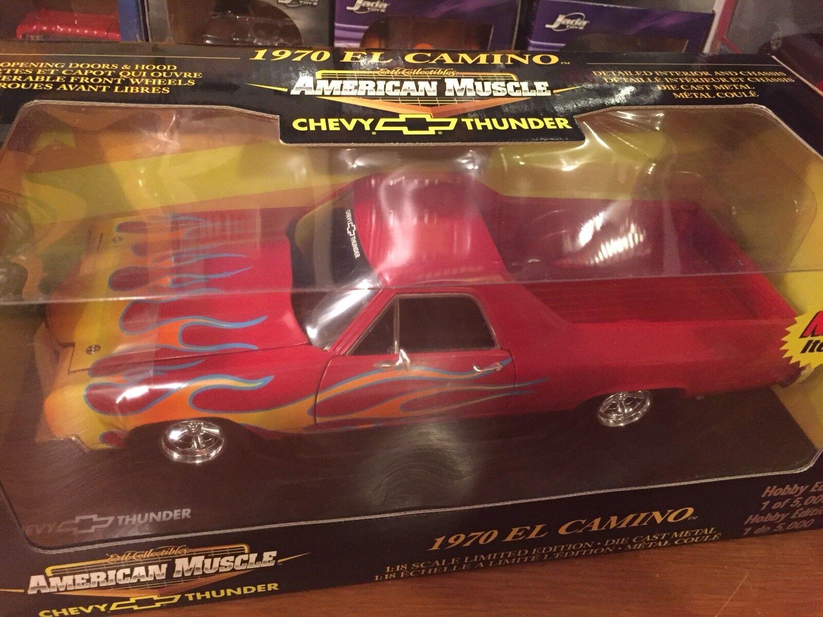 Ertl 1 18 1970 Chevrolet El Camino Red With Flames Flames Flames 1 Of 5000. Item 36988 f2b8c2