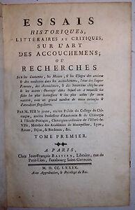 ESSAIS-HISTORIQUES-LITTERAIRES-et-CRITIQUES-sur-L-039-ART-des-ACCOUCHEMENS-SUE-1779