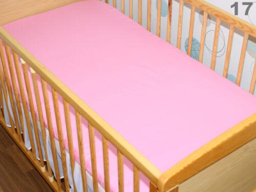 Spannbettlaken 70x140 cm Bettlaken für Baby Kinder Bett 100/% Baumwolle
