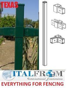 Poteaux pour cimenter cl ture panneau galvanis fer forg for Panneau fer pour cloture