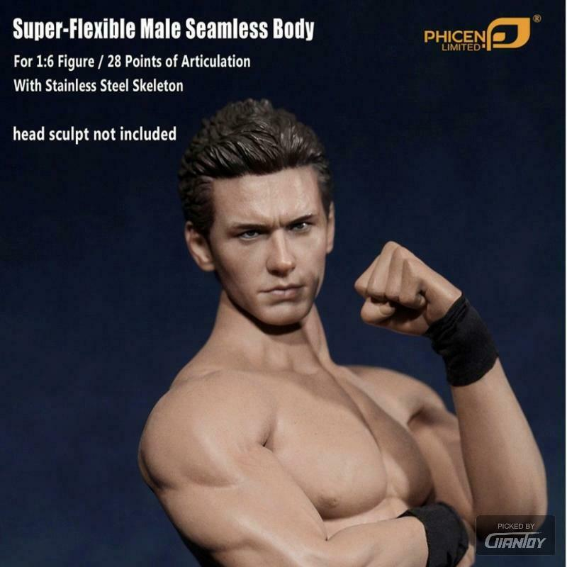 1 6 TBLeague Phicen M30 M31 M32 M33 M34 Male Body For Hot Toys 12in Figure