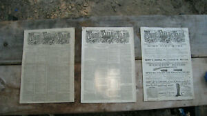 Vintage-1883-Turf-Field-and-Farm-Newspapers-Set-of-3