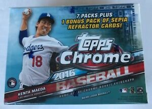 2016 Topps Chrome Baseball Blaster Box