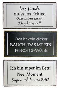 Blech Schild Mit Verschiedenen Lustigen Spruchen 40 X 20 Cm Ebay
