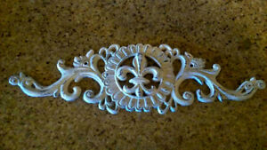 Image Is Loading Fleur De Lis Topper Wall Plaque Farmhouse Victorian