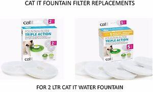 HAGEN-CAT-IT-SENSES-WATER-SOFTENING-2-LTR-FOUNTAIN-FILTER-2-OR-5-PACK-43745-46