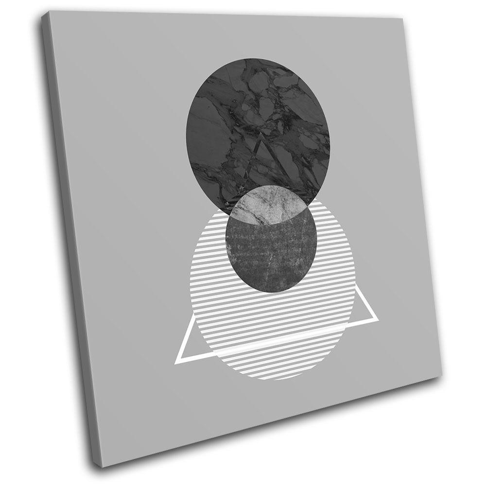 Geometric Minimal Marble Abstract SINGLE TELA TELA TELA parete arte foto stampa 1a364e