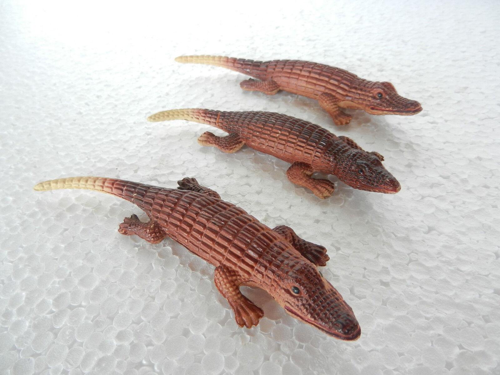Vintage - menge 3 zelluloid krokodil   alligator spielzeug abbildung, japan
