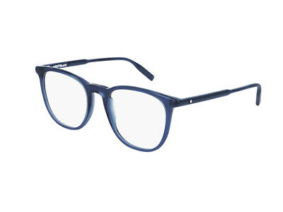 2019 Mode Gestell Optische Brille Montblanc Authentic Mb0010o Blau 007 Ausgereifte Technologien