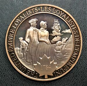 1784 Empire Loyalists: 1971 History of Canada Proof Bronze Medal