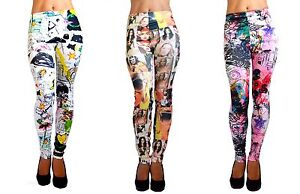 LADIES-PRINTED-LEGGINGS-JEGGINGS-VARIOUS-COLOURS