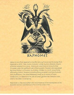 Book of Shadows Spell Pages ** Baphomet ** Wicca Witchcraft BOS | eBay
