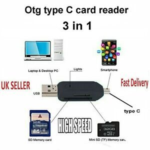 USB 3.1 Type C to Micro SD MMC SDXC TF Card Reader Adapter for Macbook Phone Hot