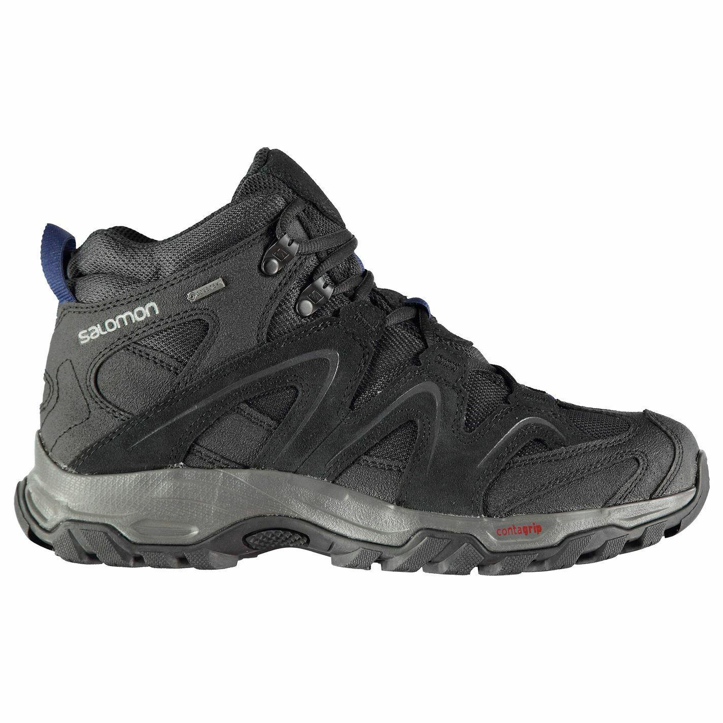 Salomon vandon Gore-Tex botas a media caminando  para Hombre Negro Zapatos Para Senderismo y Trekking  la mejor selección de