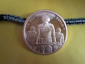 2018  2 oz .999 fine Silver Shield  SLAVE POLICE BU  Mini-Mintage  Round