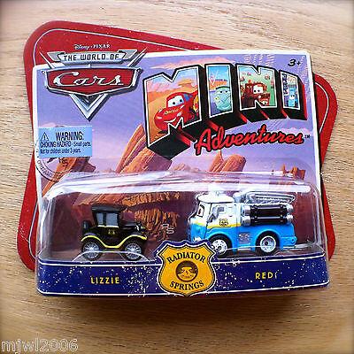 Disney Pixar Cars Mini Adventures Radiator Springs Lizzie /& Red Car Set