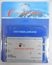 CATV 2-Way Cable TV Signal Booster Amplifier Splitter 36dB
